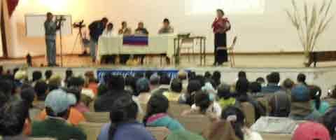 Imagen-Ecuador: Confederacion del Pueblo Kayambi organizo foro de Justicia Indigena