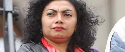 """Imagen-Ecuador: Odio y discriminación correista declaran culpable de """"sabotaje y terrorismo"""" a Mery Zamora"""