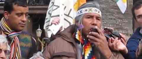 Imagen-Video Argentina: Cristina Fernandez no recibio a los pueblos indigenas