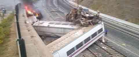 Imagen-Video Espana: Asi descarrilo el tren en Santiago de Compostela