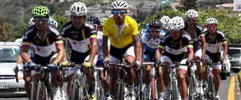 Imagen-Chile: Integrantes del movistar Team Ecuador en los Juegos Odesur