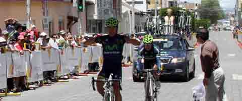 Imagen-Freddy Montana el gran campeon de la Vuelta Ciclistica Internacional al Ecuador
