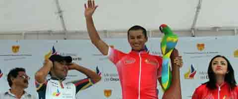 <imagen-Jhonny Caicedo el mas rapido en la sexta etapa de la Vuelta Ciclistica Internacional al Ecuador