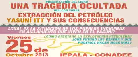 Imagen-Madrid: Presentacion del libro, una tragedia ocultada y dialogo sobre extraccion del petróleo - yasuni itt