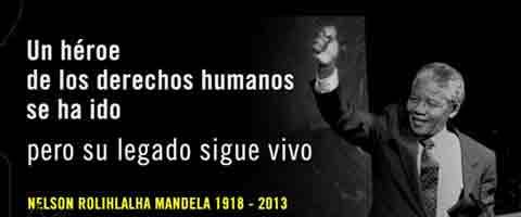 Imagen- Nelson Mandela muere cada dia en las fronteras de Europa