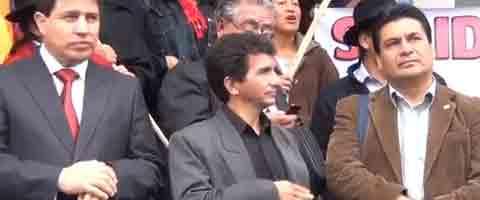 Imagen-Video Ecuador: Planton de Solidaridad con Clever Jimenez, Fernando Villavicencio y Carlos Figueroa