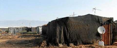 Imagen-Espana: Cientos de inmigrantes viven en chabolas encerrados tras las vallas de fincas agricolas de Almeria
