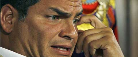 Imagen-Ecuador: Reeleccion presidencial, miedo en las filas correistas