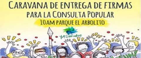 Imagen-Ecuador: Caravana para entregar 600 mil firmas