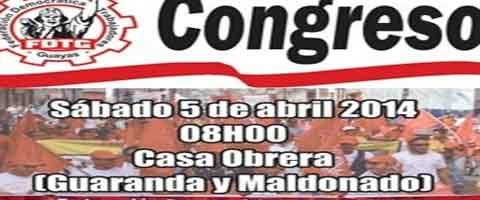 Imagen-Ecuador: Trabajadores del Guayas realizan congreso