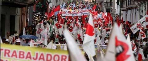 Imagen-Unidad de los trabajadores y los pueblos del Ecuador se fortalece