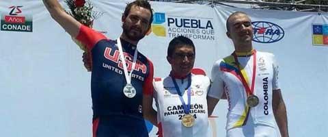 Imagen-Ecuatoriano, Byron Guama gano oro en panamericano de ciclismo en Mexico