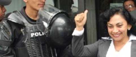 Imagen-Ecuador: Mery Zamora declarada inocente