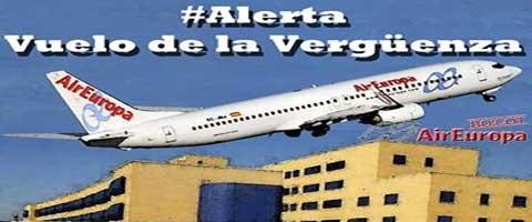 Imagen-Espana: Vuelos de la verguenza, Manifestacion a las 7 desde la Plaza Corazon de Maria de Bilbao