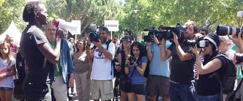 Imagen-Madrid: La Semana de lucha por el cierre de los CIE finaliza con una serie de actos