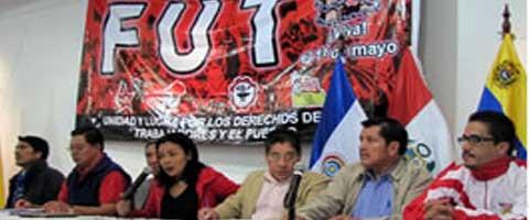 Imagen-Ecuador: FUT califica a la propuesta de codigo del trabajo del Gobierno como regresiva y anti-obrera