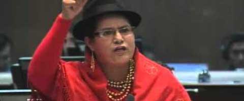 Imagen-Ecuador: Correa asustadito con la movilizacion indigena ordena votacion de ley de aguas