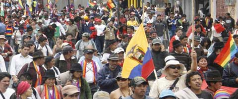 """Imagen-Ecuador: """"Esta es una marcha por la vida"""""""
