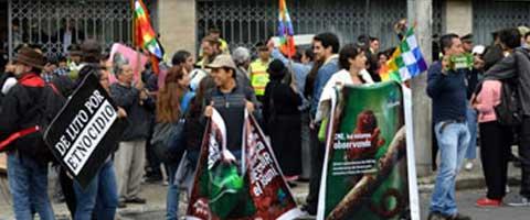 Imagen-Ecuador: Movimientos Sociales entregan carta publica al Presidente a traves del MAE