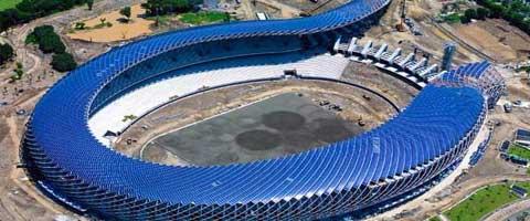 Imagen-Un estadio en forma de dragon que funciona con energia solar en Taiwan