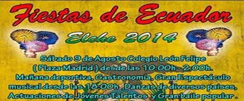 Imagen-FIESTAS DEL ECUADOR, ELCHE 2014