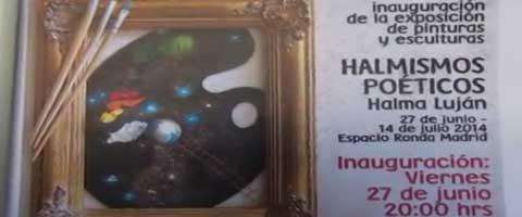 Imagen-Video: Halmismos Poeticos, Arturo Prado - Halma Lujan en Madrid