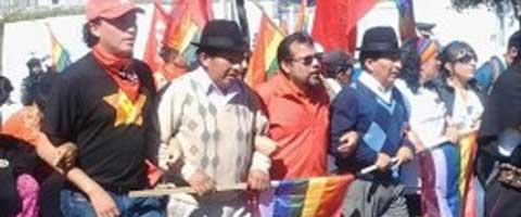 Imagen-Ecuador: Marcha por el Agua, la Vida y la Libertad, la meta se cumplio