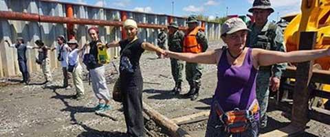 Imagen-Ecuador: Impiden verificacion del ancho de carretera en el Bloque 31 en Yasuni