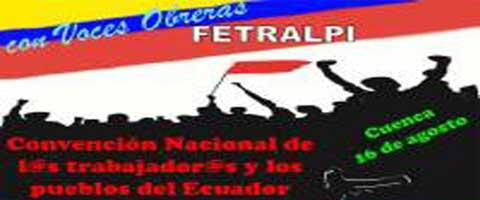 Imagen-Ecuador: Resoluciones de la Asamblea Provincial de las organizaciones sindicales y sociales de Pichincha