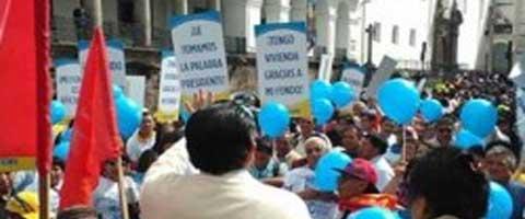 Imagen-Ecuador: Reunion a las 20:00 en un domingo, otra treta fallida del gobierno