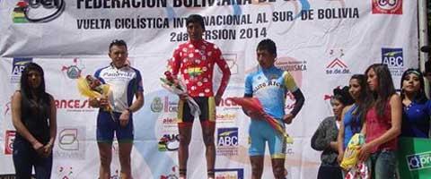 Imagen-Vuelta Ciclistica de Bolivia: Ecuatorianos Cleber Cuasquer segundo y Jhonny Caicedo tercero