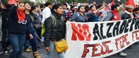 Imagen-Ecuador: ¡Son estudiantes, no delincuentes!