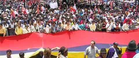 Imagen-Ecuador: Organizaciones populares y gobierno miden fuerzas