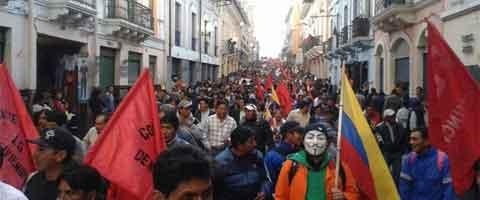 Imagen-Ecuador: Responder con la lucha en las calles