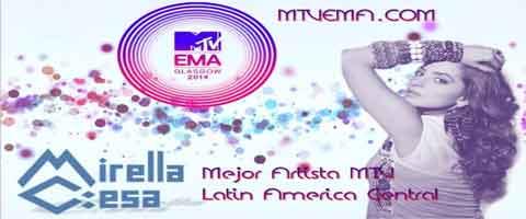 Imagen-MTV Europa EMA 2014, nomina a la Ecuatoriana Mirella Cesa como Mejor Artista Latinoamericana