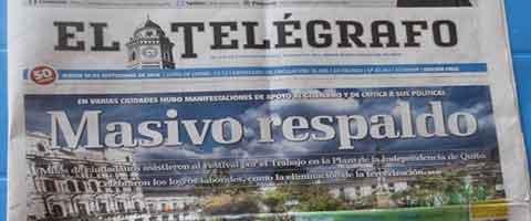 Imagen-Marcha del 17-S: Piden rectificacion a diario Telegrafo por el titular y tratamiento de noticia