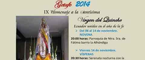 Imagen-Madrid: IX Homenaje a la Virgen del Quinche Getafe 2014